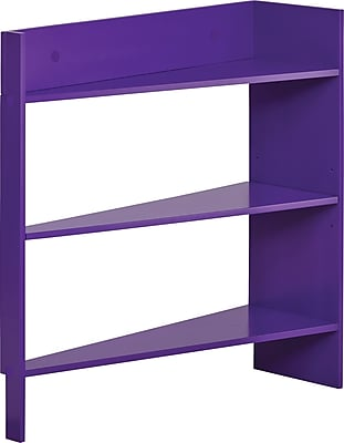 Foremost Heidi Jr. 3-Shelf Behind The Door Wood Shelving Unit, Plum