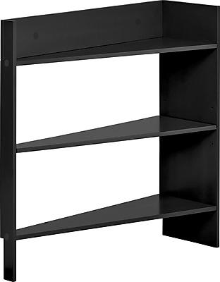 Foremost Heidi Jr. 3-Shelf Behind The Door Wood Shelving Unit, Black