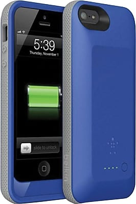 Belkin Grip Power Battery Case for iPhone 5 and iPhone 5s, Blue/Stone