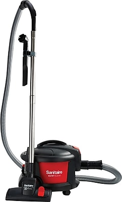 Electrolux Sanitaire® Quiet Clean® Canister Vacuum, Red/Black (SC3700A)