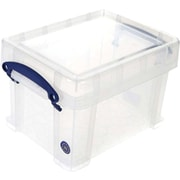 Really Useful Boxes® 3L Storage Box, Transparent, Clear