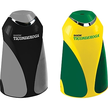 Ticonderoga Personal Electric Pencil Sharpeners with Bonus 12 Ticonderoga Pencils, Each