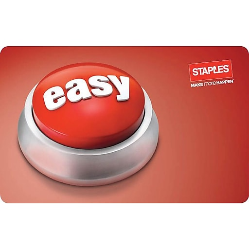 Easy Button Staples