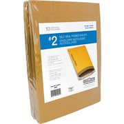 "Crownhill Kraft Self-Seal Padded Mailer, #2, 8.5"" x 12"", 10/Pack"