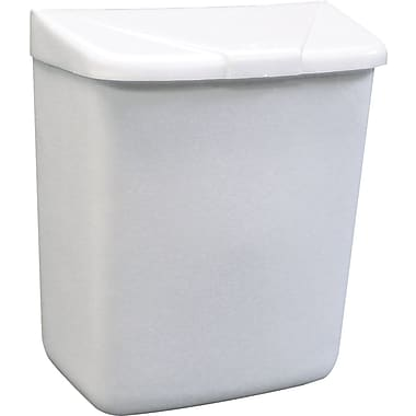 Hospeco® Feminine Hygiene Products Waste Receptacle, White