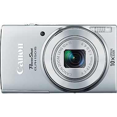 Canon PowerShot ELPH 150 IS Digital Camera, Silver