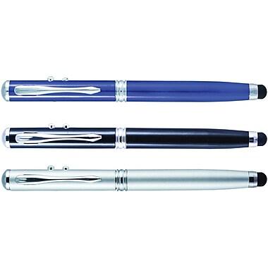 Monteverde® 4-in-1 Multifunction Laser/Stylus/Flashlight/Ballpoint Pen, Medium Point, Assorted Barrel Colors, Each