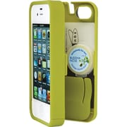 Eyn case for iPhone 4/4S with Hinged Storage Back, Chartreuse