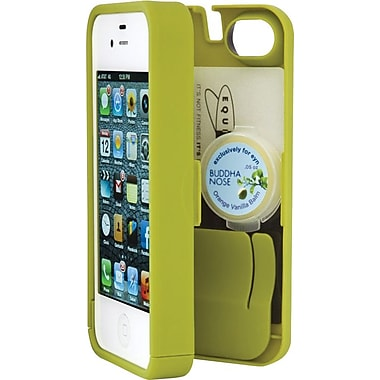 EYN Smartphone Case for iPhone 5/5S with Hinged Storage Back, Chartreuse