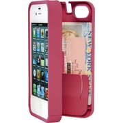 Eyn case for iPhone 4/4S with Hinged Storage Back, Pink