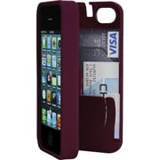 Eyn case for iPhone 5/5s with Hinged Storage Back, Syrah