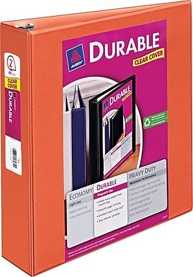Avery Durable 2-Inch Slant D-Ring View Binder, Orange  (34161)