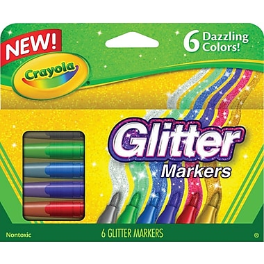 Crayola® Glitter Markers, 6/Pack