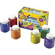 Crayola 6-color Glitter Washable Kids Paint, Assorted Colors, 2 oz., 6/Set (54-2400)