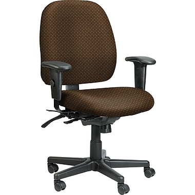 Eurotech Seating 49802A TAN-ROUL Fabric Mid-Back Task Chair with Adjustable Arms, Tangent Roulette