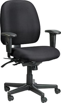 Raynor Eurotech Fabric 4 x 4 Multi-function Task Chair, Basis Onyx