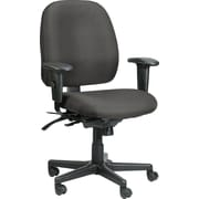 Raynor Eurotech Fabric Computer and Desk Office Chair, Basis Fog, Adjustable Arm (49802A BAS-FOG)