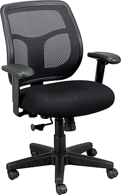 Eurotech Seating Fabric Computer and Desk Office Chair, Basis Onyx, Adjustable Arm (MT9400BAS-ONYX)