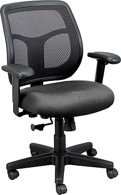 Raynor Eurotech Fabric Computer and Desk Office Chair, Basis Fog, Adjustable Arm (MT9400 BAS-FOG)