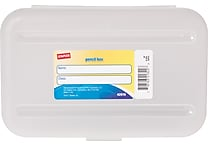 Staples® Pencil Box, Translucent Clear