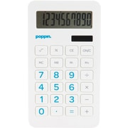 Poppin White Eco Calculator with Pool Blue Numbers