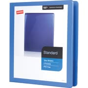 "1"" Staples® Standard View Binder with D-Rings, Periwinkle"