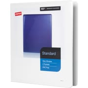 "1"" Staples® Standard View Binder with D-Rings, White"