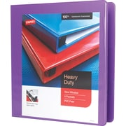 Staples Heavy-Duty 1.5-Inch D-Ring View Binder, Purple  (24683-US)