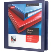 "1-1/2"" Staples® Heavy-Duty View Binder with D-Rings, Blue"