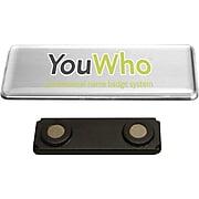 YouWho Name Tag Kit, Silver, Inkjet, 4-Unit