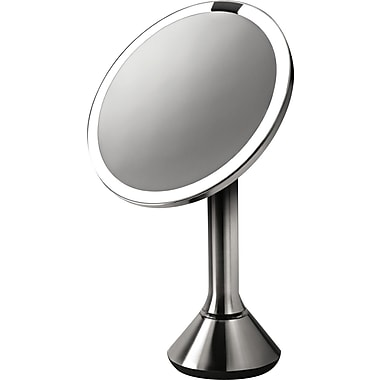 Simplehuman – Miroir de toilette allumé activé par capteur, 8 po