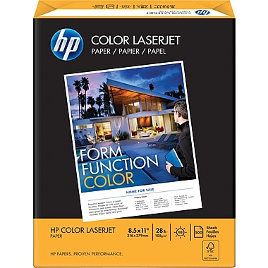 HP® FSC-Certified Colour Laser Paper, 28 lb., 8-1/2