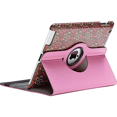 Aduro Rotating Stand Case for iPad 2/3/4, Flower