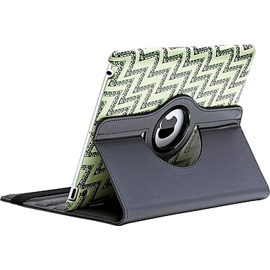 Aduro Rotating Stand Case for iPad 2/3/4, Zigzag