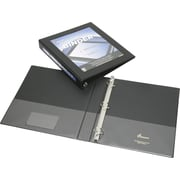 "SKILCRAFT Frame View Binders, Letter, 8.50"" x 11"", 20 Sheet Capacity, D-Ring, 1"" Binder Fastener Capacity, Black"