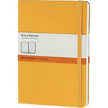 Moleskine Classic Colored Notebook, Extra Large, Ruled, Hard Cover, Yellow Orange, 7.5