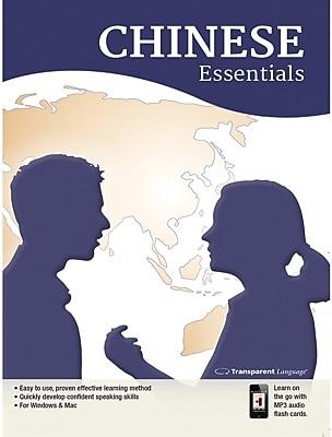 Transparent Language Chinese Essentials for Windows (1 User) [Download]