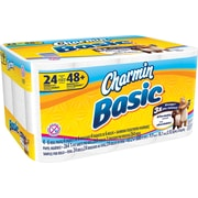 Charmin Basic 1-Ply Bath Tissue Rolls, 24 Double Rolls/Case