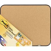 "Post-it® Sticky Cork Board, Black Plastic Frame, 18"" x 22"" (558-BBS)"