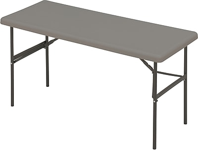 IndestrucTable TOO Folding Table,1200 Series - Charcoal - 24 x 60