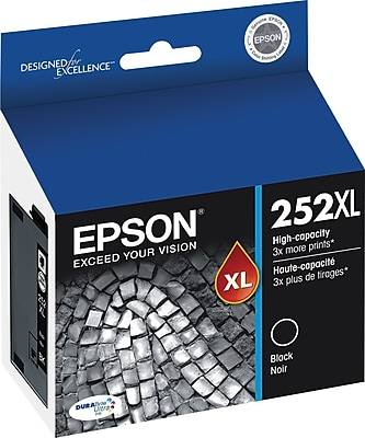 Epson DURABrite Ultra 252XL Black Ink Cartridge, High Yield