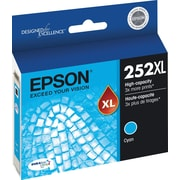 Epson DURABrite Ultra 252XL Cyan Ink Cartridge (T252XL220-S), High Yield