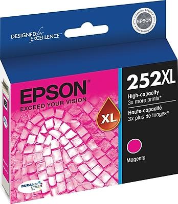 Epson DURABrite Ultra 252XL Magenta Ink Cartridge (T252XL320-S), High Yield