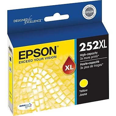 Epson 252XL Yellow Ink Cartridge, High-Capacity (T252XL420)