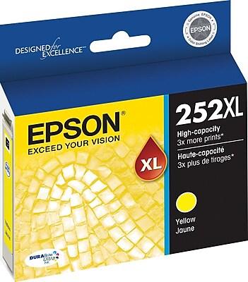 Epson DURABrite Ultra 252XL Yellow Ink Cartridge (T252XL420-S), High Yield