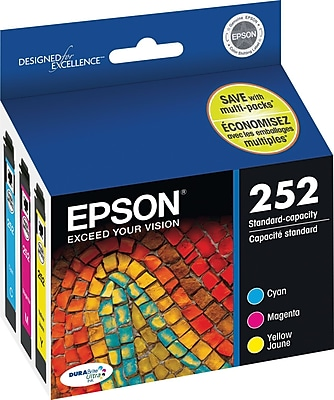 Epson DURABrite Ultra 252 Multi-Color Ink, 3/Pack
