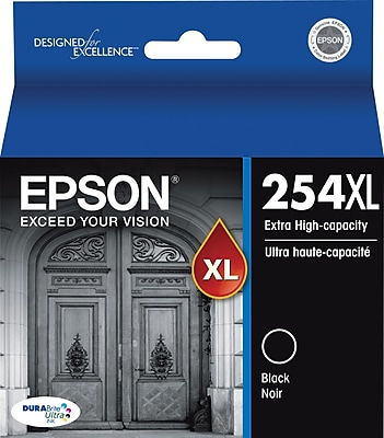 Epson (T254XL120-S) Black Ink Cartridges, Extra High Yield