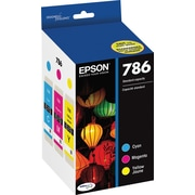 Epson DURABrite Ultra 786 C/M/Y Color Ink Cartridges (T786520-S), Combo 3/Pack
