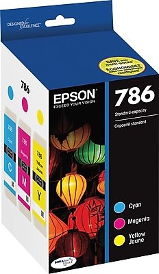 EPSON® (T786520-S) Cyan, Magenta and Yellow Ink Cartridge, 3/pack