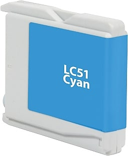 Staples Remanufactured Cyan Ink Cartridge, Brother LC51C (SIB-RLC51CDS)